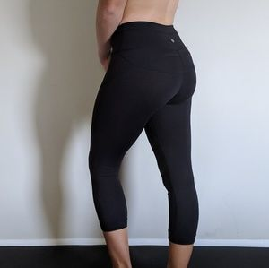 Black Lululemon Leggings with detail